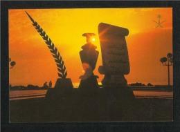 Saudi Arabia Picture Postcard A Decorative Monument Cornice Jeddah  View Card - Saudi Arabia