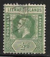 Leeward Is., Scott # 47 Used King, 1912, Small Thin At Top - Leeward  Islands