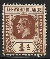 Leeward Is., Scott # 61 Mint Hinged King, 1922 - Leeward  Islands