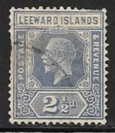 Leeward Is., Scott # 70 Used King, 1927, Short Perfs - Leeward  Islands