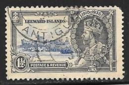 Leeward Is., Scott # 97 Used Silver Jubilee, 1935, Round Corner - Leeward  Islands