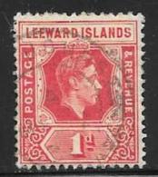Leeward Is., Scott # 105b Used King George Vl, 1948 - Leeward  Islands