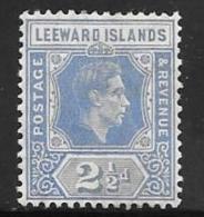 Leeward Is., Scott # 108a Mint Hinged King George Vl, 1938 - Leeward  Islands