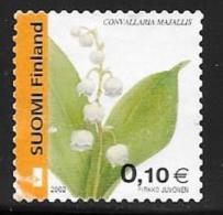 Finland, Scott # 1163b Used Flowers,2002