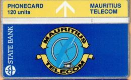 Mauritius - MAU-07, 302A/120 - State Bank & Telecom´s Logo, 1.500ex, 2/93, Used - Mauritius