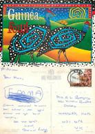 Guinea Fowl, Botswana Postcard Posted 1995 Stamp - Botswana