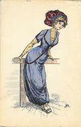 Femme élégante - Illustration De Julia - Carte Non Circulée - Donne