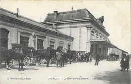 Blois - La Gare De Paris-Orléans - Calèches - Edition C. Vannier - Gares - Sans Trains