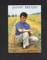 DANNY BRENDO- FOTOKAART MET HANDTEKENING (4180) - Artistes
