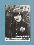 ANDY FREE - FOTOKAART (10,5 Cm X 7 Cm) MET HANDTEKENING (4186) - Artistes