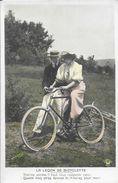 La Leçon De Bicyclette - Photo Roedell - Lot De 5 Cartes Colorisées (série Complète) - Edition Du Croissant Paris - Couples
