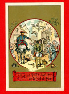 Chromo Lith. Vieillemard, Fables La Fontaine, Le Pot De Terre & Le Pot De Fer - Other