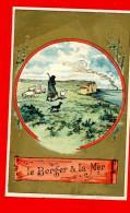 Chromo Lith. Vieillemard, Fables La Fontaine, Le Berger & La Mer - Other