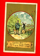 Chromo Lith. Vieillemard, Fables La Fontaine, Le Vacher & Le Garde Chasse - Other