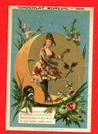 Chocolat Moreuil, Chromo Simili Liebig S_0148 - Pierrots & Pierrettes, Lith. Vieillemard & Ses Fils - Chocolat
