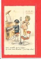 Germaine BOURET Cpa Animée Vedette De La Radio               Deux Scanns - Bouret, Germaine
