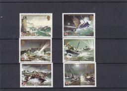Bateaux - Voiliers - Sauvetage - Phares - Jersey - Yvert 318 / 23 ** - MNH - Valeur 5,50 Euros - Schiffe