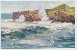 Newquay - The Blowing Hole - Art Colour - Newquay