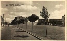 CPA Photo  Belgique    (Hainaut)   FRAMERIES  -  La Place Calmette Et La Rue De Fleignies - Frameries