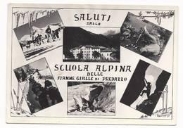 Saluti Dalla Scuola Alpina Delle Fiamme Gialle - Predazzo - Trento - H2995 - Trento