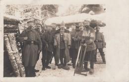 CP D'un Groupe De Soldats En Tenue D'hiver Datée De MOLSHEIM Du 16.2.1915 - Marcophilie (Lettres)