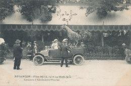 25 // BESANCON  Fetes Présidentielles Aout 1910 / Concours D'automobiles Fleuries - Besancon