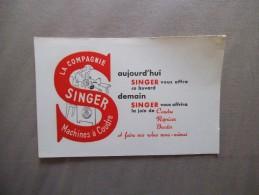 BUVARD LA COMPAGNIE SINGER MACHINES A COUDRE - S