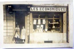 CARTE PHOTO  LES ECONOMIQUES EPICERIE DEVANTURE CHAINE DE COMMERCE EPICERIE SUCCURSALE N° 78 - Photos