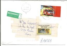 FINLANDE LETTRE POUR LA FRANCE 2000 TP TIMO MAKKINEN RALLYE - Lettres & Documents