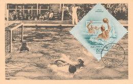 D26012 CARTE MAXIMUM CARD 1954 HUNGARY - WATERPOLO CP ORIGINAL