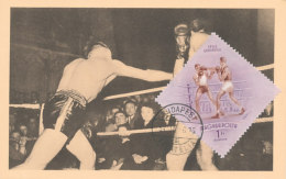 D26013 CARTE MAXIMUM CARD 1954 HUNGARY - BOXING CP ORIGINAL - Boxing