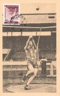D26014 CARTE MAXIMUM CARD RR 1955 POLAND - HAMMER THROW CP ORIGINAL - Athletics