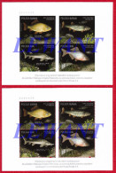 POLAND - 2016 Fishes Threatened By The Extinction - Official Release Polish Post - 2 X Souvenir Sheet MNH - Unused Stamps