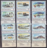 Ross Dependency 1982 Definitives 6v (pair) ** Mnh (32388) - Ross Dependency (Nieuw-Zeeland)