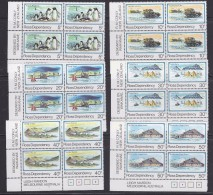 Ross Dependency 1982 Definitives 6v Bl Of 4  ** Mnh (32388A) - Ross Dependency (Nieuw-Zeeland)