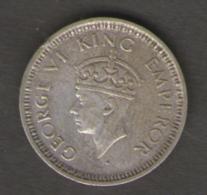 INDIA 1/4 RUPEE 1945 AG SILVER - India