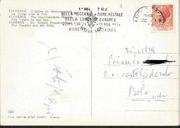 TIMBRO POSTALE SU CARTOLINA  1° MOSTRA MECCANIZZAZ. POSTALE DELLA COMUNITA' EUROPEA ROMA EUR 29 OTT - 11 NOV 1954 - Timbri Generalità