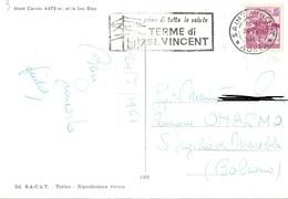 TIMBRO POSTALE SU CARTOLINA PRIMA DI TUTTO LA SALUTE TERME DI ST. VINCEN 1961 - Timbri Generalità