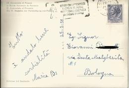 """TIMBRO POSTALE SU CARTOLINA """"GIOVANI CON L'APPRENDISTATO E I CORSI DI FORMAZIONE PROFESSIONALE 1958"""" - Timbri Generalità"""