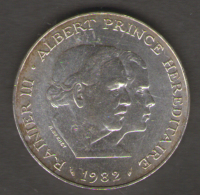 MONACO 100 FRANCS 1982 AG SILVER - Monaco
