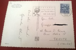 "TIMBRO POSTALE SU CARTOLINA ""TETANUS IMPFAKTION DER STADT WIEN 18.9-1410.72"" - Timbri Generalità"