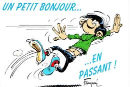 CPSM.  Gaston LAGAFFE. Un Petit Bonjour.  (Franquin) - Humour