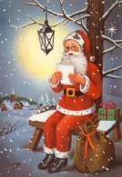"""Alte Weihnachtsk.""""Weihnachtsmann Sitzt Auf Der Bank"""" 60er Jahre.( OR 4 ) - Navidad"""