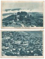 2 POSTCARD OF GJINOKASTRE  - ARGIROCASTRO , PANORAMA - TEGE E BABA MANES , 1940 . - Albania