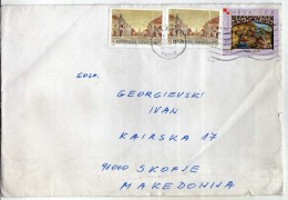 Croatia  Via Macedonia.letter 2000.nice Stamp. - Croatia