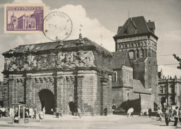 D26044 CARTE MAXIMUM CARD 1962 POLAND - ANCIENT GATE GDANSK - IMPERFORATED CP ORIGINAL - Architecture