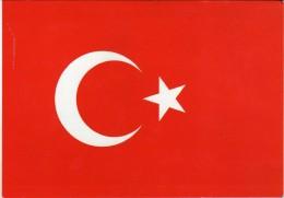 Turkey Flag.unused Postcard - Turchia