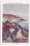 Chromo Fiche Illustrée Collection Hugo D'Alési Lac De Bienne Suisse - Géographie