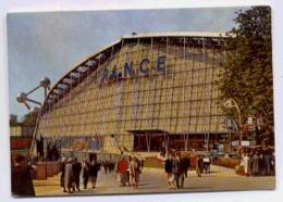 BRUXELLES EXÖSITION UNIVERSELLE LA PAVILLON FRANCE FACE ARRIERE  TIMBRES SURTAXES - Exposiciones Universales