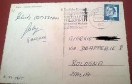 "TIMBRO POSTALE SU CARTOLINA ""FESTLICHE KUR UND KONGRESSTADT WIESBADEN 1965 GERMANIA"" - Timbri Generalità"